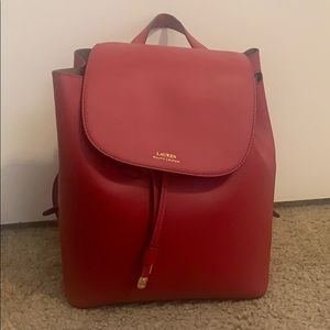 Ralph Lauren Leather Fashion Backpack